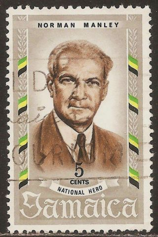 1970 Jamaica:: Scott 299 - National Heroes (5 Cent - Norman W.  Manley) - photo