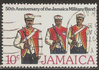 1977 Jamaica: Scott 432 (10 Cent - 50th Anniv.  Jamaica Military Band) - photo