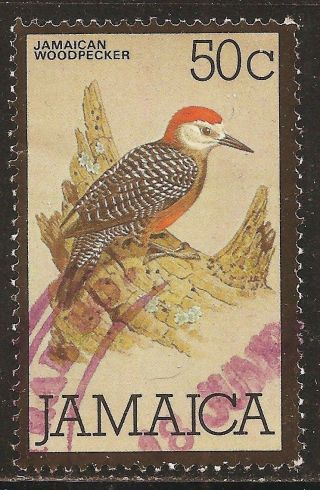 1980 Jamaica: Scott 477 - Birds (50 Cent - Jamaican Woodpecker) - photo