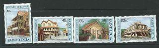 St.  Lucia Sg683/6 1984 Historic Buildings photo