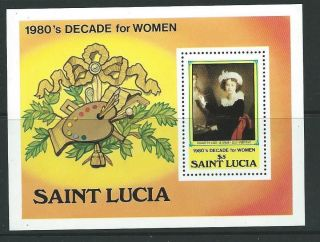 St.  Lucia Sgms601 1981 Decade For Women photo