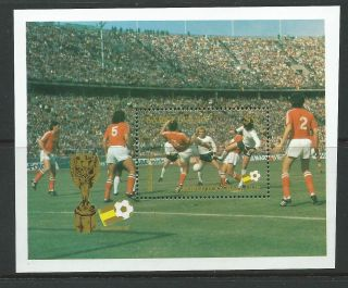 St.  Lucia Sgms615 1982 World Cup Football photo