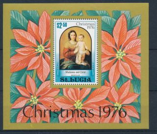 Saint Lucia 1976 Christmas & Nativity Souvenir Sheet - photo