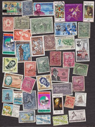 Haiti - Packet Of 40 Assorted - No Duplicates - B3493 photo