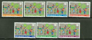 Haiti Scott 721//c486 Int ' L Year Of The Child Playing Children Cv $8.  50 photo