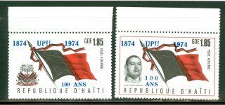 Haiti Scott C432 - 3 Surcharge Upu Anniv Haitian Flag Coat Of Arms Duvalier photo