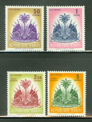 Haiti Scott Cq3 - 4,  Q5 - 6 Colis Postaux Parcel Post Arms Palm Tree photo