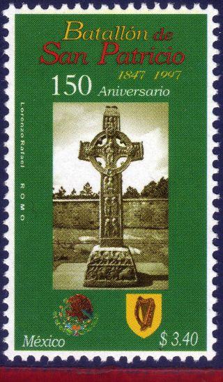 2049 Mexico 1997 Battalion Of St.  Patrick,  150th Anniv. ,  Military,  Mi 2652, photo