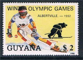 Guyana 1988 Next Winter Olympics 1v photo