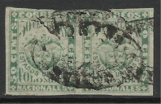 Colombia.  1880.  50c Emerald On Bluish Paper.  Type Iv.  Good Pair. photo