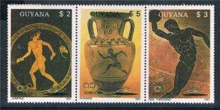 Guyana 1987 Summer Olympics 3v Strip 1854a photo