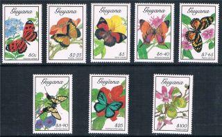 Guyana 1989 Butterflies Sg 2657/64 photo