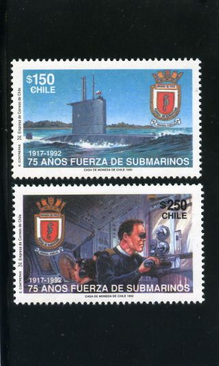 Chile 1992 75 Years Submarines Force Scarce photo