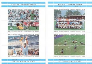 Argentina 1986 World Cup National Team Championships S/ss (sc 1569 - 1570) photo