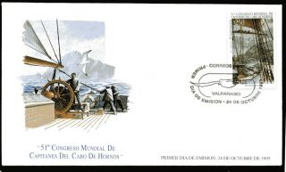 Chile 1995 Fdc 51th World Meeting Cape Horn Captains photo