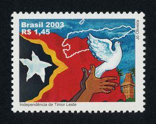 Brazil 2882 Map,  Bird,  Flag photo
