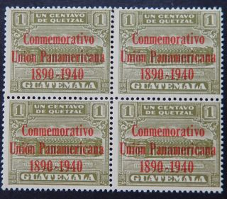 Guatemala Stamp Never Hinged Block Of 4 With Gum photo