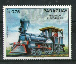 Paraguay First Paraguayan Steam Locomotive Commemorative Stamp photo