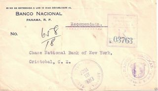 1927 Panama Reg To Cristobal Canal Zone Without Franking Cover photo