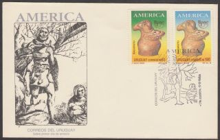 Fdc 1979 Uruguy - America Pre - Columbian Culture photo