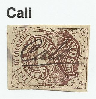 Colombia.  1870.  2c Brown.  Sg: 61.  Fine