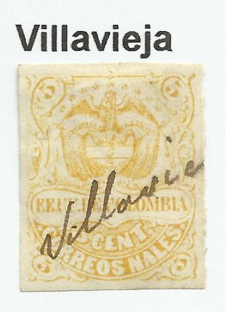 Colombia.  1870.  5c Yellow.  Sg: 62a.  Fine