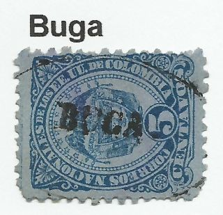 Colombia.  1883.  5c Blue/blue.  Sg: 109.  Fine