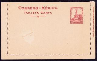 Mex 1920 ' S Tarjeta Carta W/cuauthemoc 10c (ps207) photo