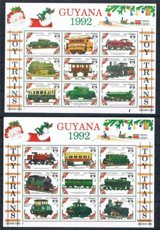 Guyana 1992 Toy Trains Genova 92 72v Sg 3353/424 photo