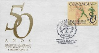 Colombia Society Of Orthopedic Surgery And Traumatology Sc C901 Fdc 1997 photo