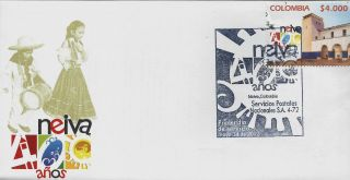 Colombia Neiva 400th Anniversary Sc 1375 Fdc 2012 photo
