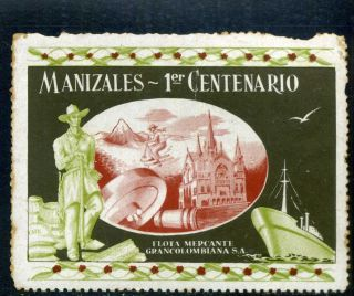 Manizales,  1 Cent.  Fundacion,  Feria Anual  Taurina,  - 1952 Cinderella photo