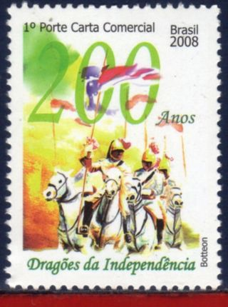8 - 17 Brazil 2008 - Dragons Of Independence,  200 Years,  Horses,  History, photo