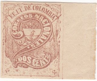Colombia Stamp 1870 - 1874 Numeral Stamp Scott 68 A28 photo