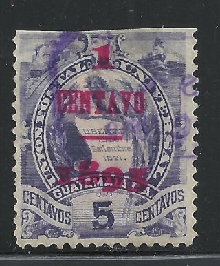 Guatemala Scott 75,  Single 1898 Fvf photo