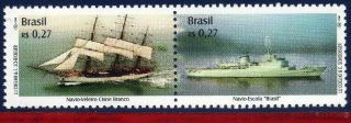2753 Brazil 2000 - Sailboat And Training Ship,  Mi 3045 - 46,  Sc 2753, photo