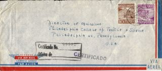 1963 Venezuela Registered Airmail Cover To Philadelphia Pa U.  S.  A. photo