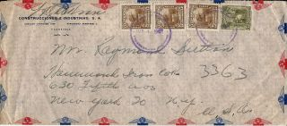 1947 Venezuela Commercial Airmail Cover To Nyc N.  Y.  Usa photo