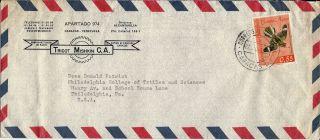 1962? Venezuela Airmail Cover Caracas To Philadelphia Pa.  U.  S.  A. photo
