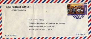 1966? Venezuela Airmail Cover Caracas To Philadelphia Penna.  U.  S.  A. photo