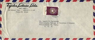 1962 Colombia Airmail Commercial Cover Medelin To Philadelphia Penna.  U.  S.  A. photo