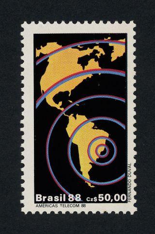 Brazil 2134 Telecommunications,  Map photo