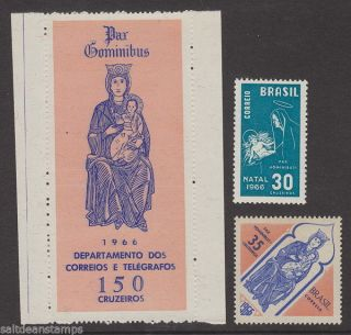 Brazil - 1966 Christmas (3v) Umm / photo