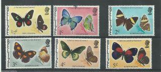 Belize - 1974 - Sg380 Sg381 & Sg405 To Sg408 - Cv £ 10.  00 - Mounted photo