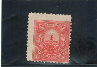 Argentina.  (1884 - 85) Sc 53 // Gj 78.  Little Envelope.  Mh. photo