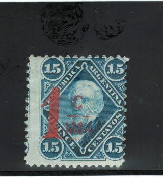 Argentina.  (1884) Gj 75.  Provisorio.  Mh. photo