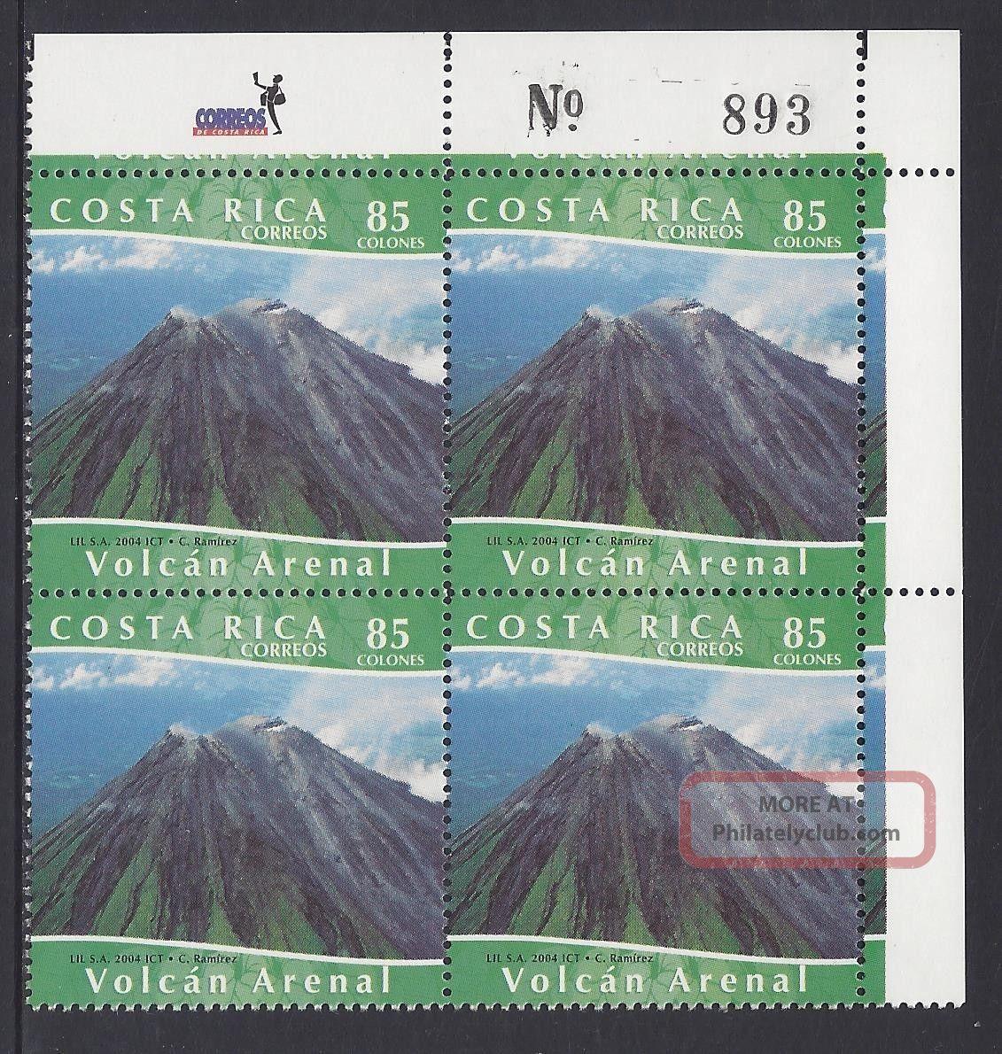 Costa Rica Arenal Volcano Sc 577a Block Of 4 2004 Latin America photo