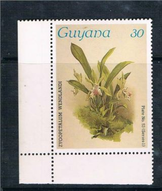 Guyana 1986 Orchid Sg 1771 photo