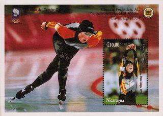 Nicaragua Claudia Pechstein Speed Skating Sc 2049 1994 photo