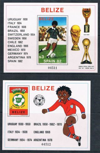 Belize 1981 World Cup Football 2xms Sg 670 photo